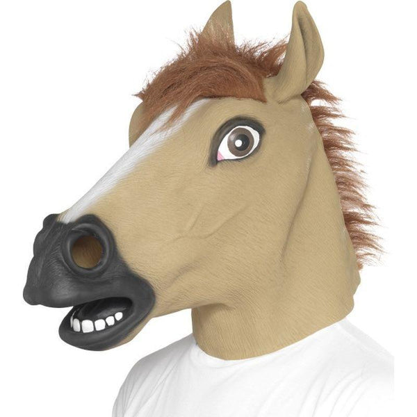 Horse Mask Adult Brown - Adult Animal Mad Fancy Dress