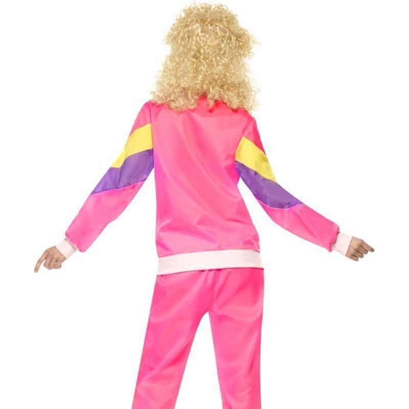 80S Height Of Fashion Shell Suit Costume Adult Pink - 1980S Mad Fancy Dress