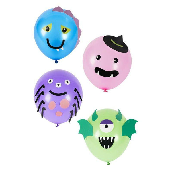 Monster Tableware, Party Balloons x8
