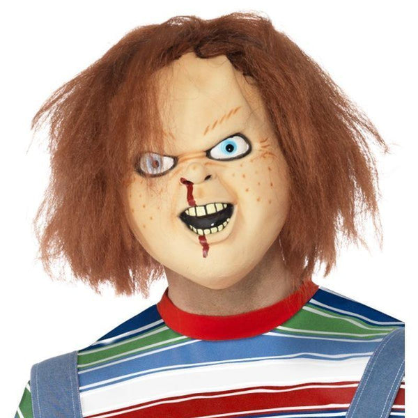 Chucky Latex Mask Adult Brown - Chucky Licensed Fancy Dress Mad Fancy Dress