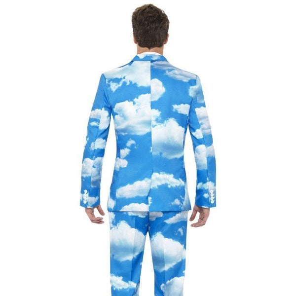 Sky High Suit Adult Blue/white - Stands Out Suits Mad Fancy Dress