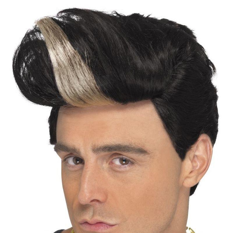 90S Rapper Wig Adult Black/blonde - Mens Wigs Mad Fancy Dress