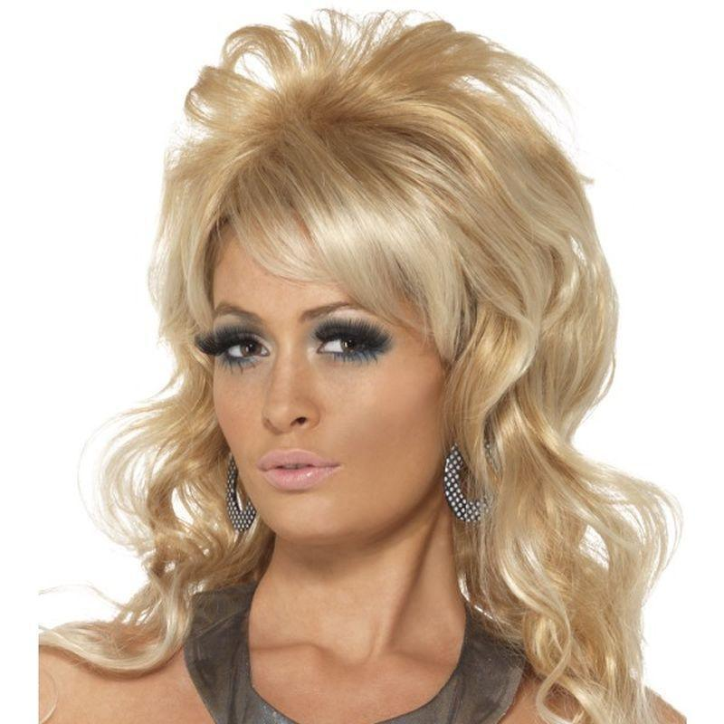60S Beauty Queen Wig Adult Blonde - Ladies Wigs Mad Fancy Dress