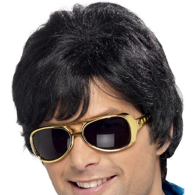 70S Shag Wig Adult Black - Mens Wigs Mad Fancy Dress
