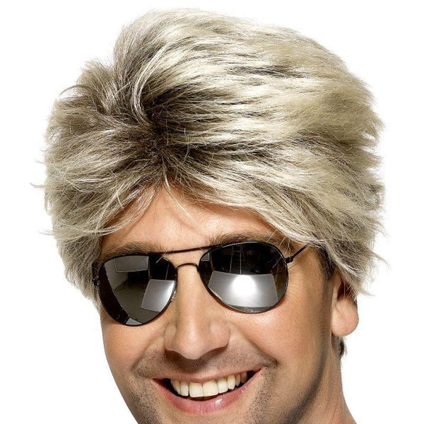 80S Street Wig Adult Blonde - Mens Wigs Mad Fancy Dress
