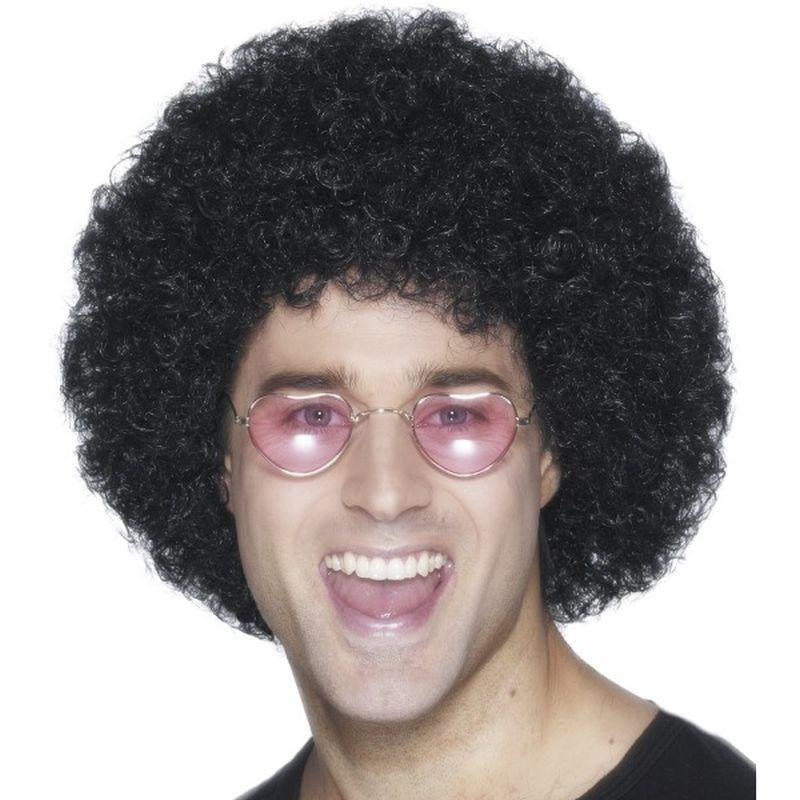 Afro Wig Economy Adult Black - Smiffys Wigs Mad Fancy Dress