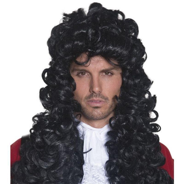Pirate Captain Wig Adult Black - Mens Wigs Mad Fancy Dress
