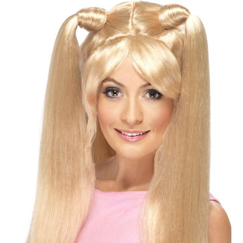 Baby Power Wig Adult Blonde - Ladies Wigs Mad Fancy Dress