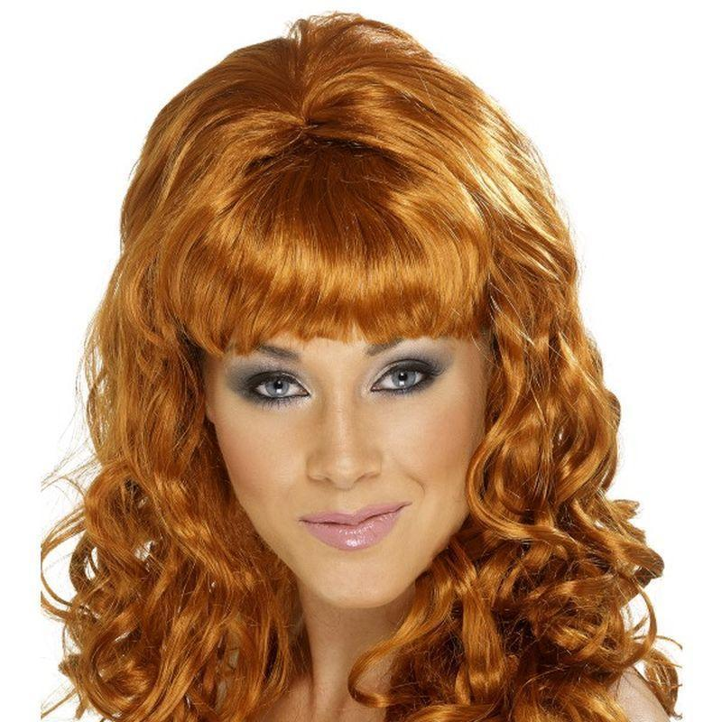 Beehive Beauty Wig Adult Auburn - Ladies Wigs Mad Fancy Dress