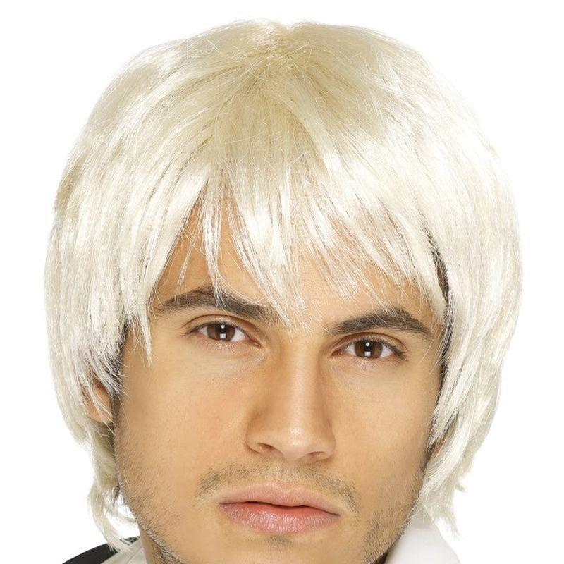 Boy Band Wig Adult Blonde - Heroes & Role Model Mad Fancy Dress
