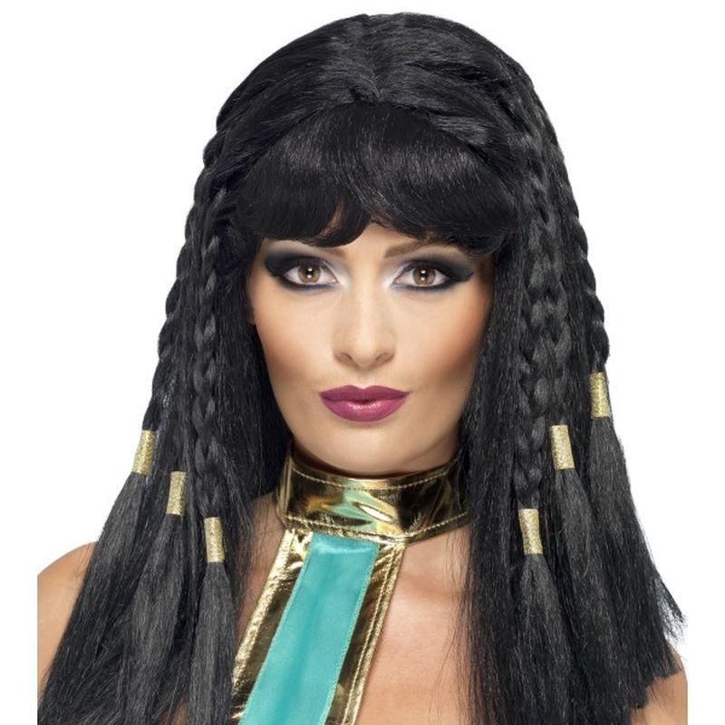Cleopatra Wig Adult Black - Ladies Wigs Mad Fancy Dress