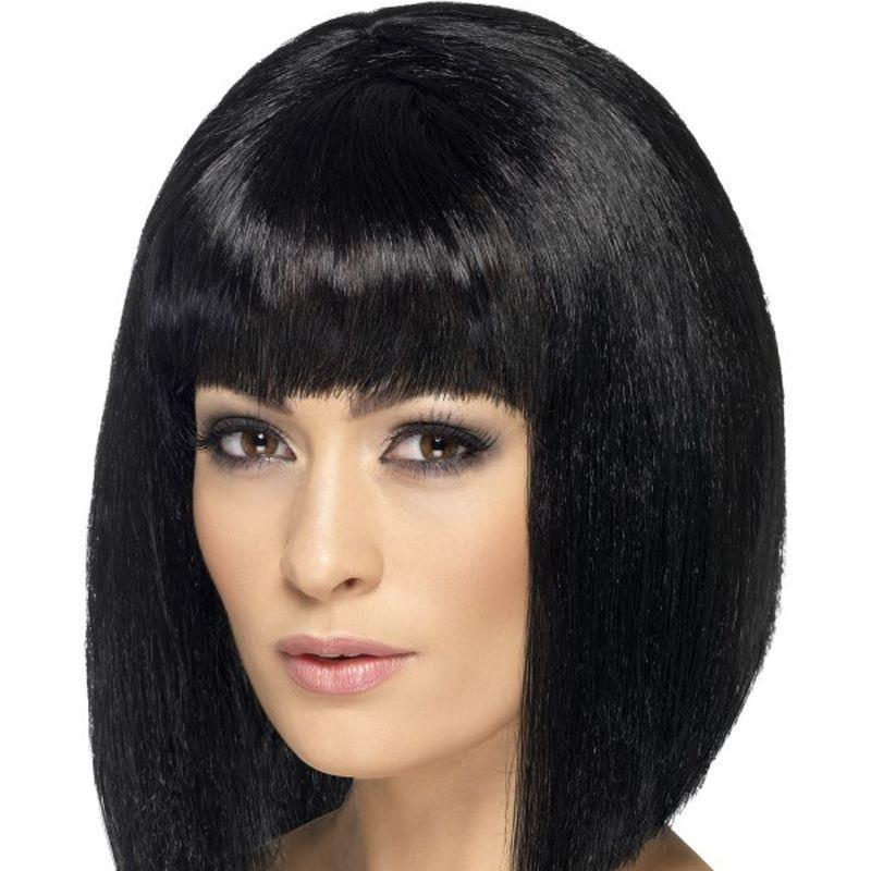 Coquette Wig Adult Black - Ladies Wigs Mad Fancy Dress