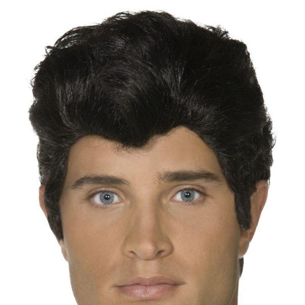 Grease Danny Wig Adult Black - Grease Licensed Fancy Dress Mad Fancy Dress