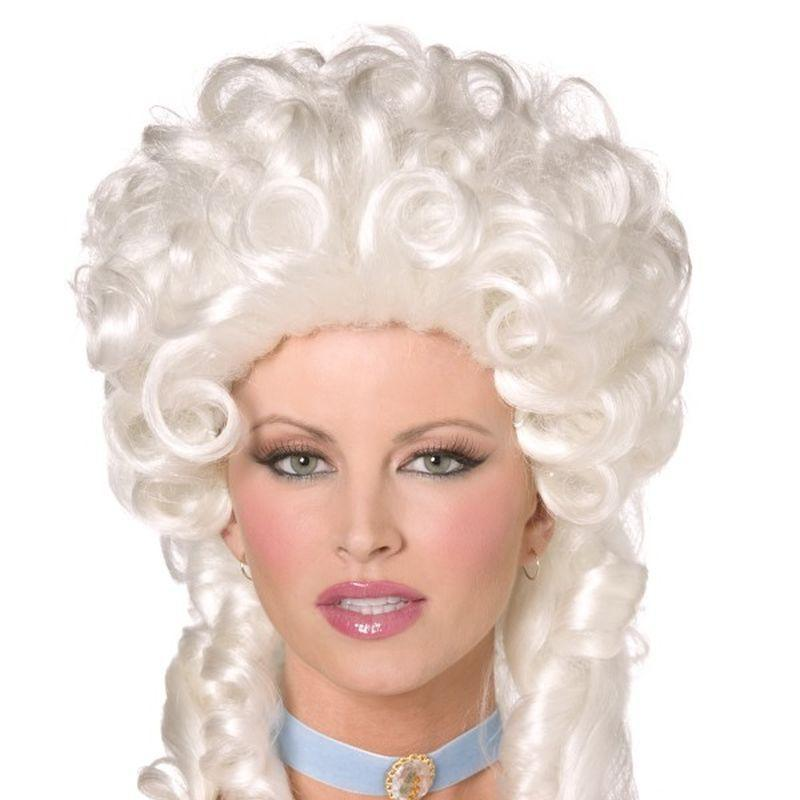 Baroque Wig Adult White - Ladies Wigs Mad Fancy Dress