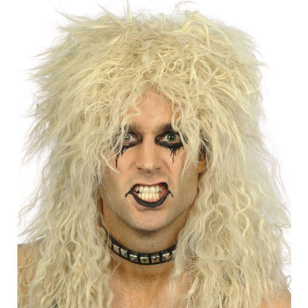 Hard Rocker Wig Adult Blonde - Mens Wigs Mad Fancy Dress