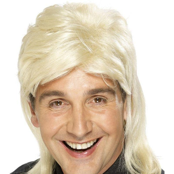 Mullet Wig Adult Blonde - 1980S Mad Fancy Dress
