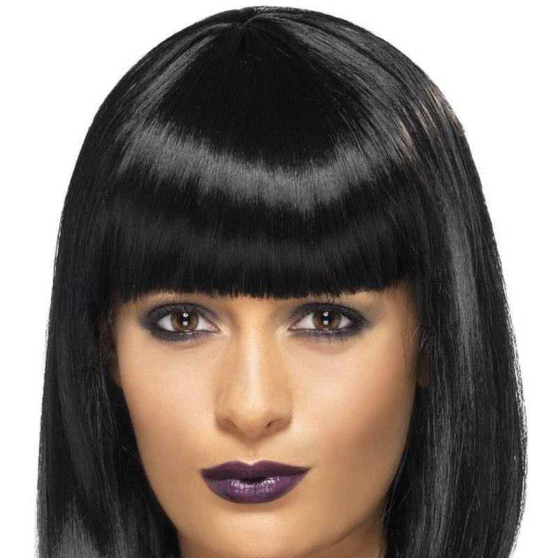 Rnb Star Wig Adult Black - Heroes & Role Model Mad Fancy Dress
