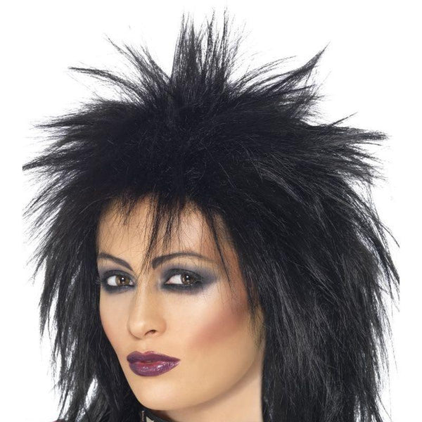 Rock Diva Wig Adult Black - Ladies Wigs Mad Fancy Dress