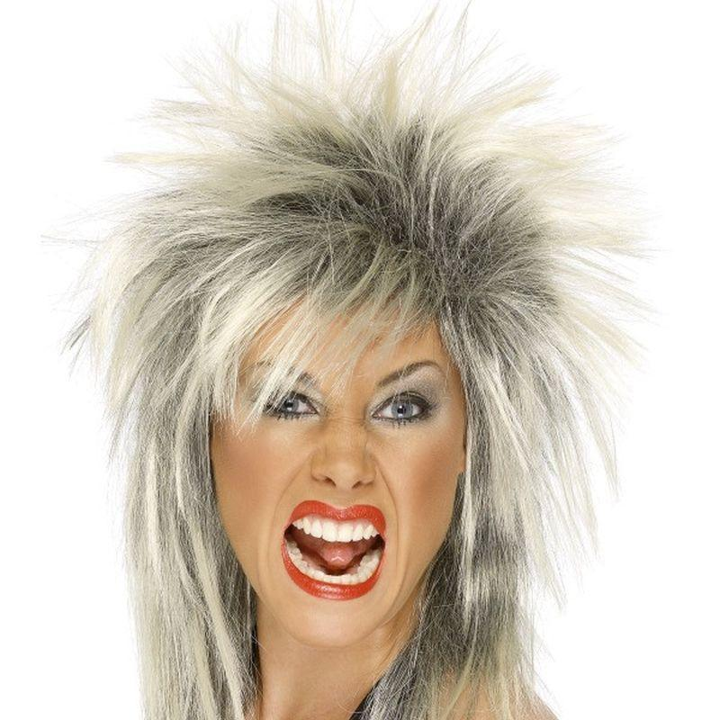 Rock Diva Wig Adult Blonde - Ladies Wigs Mad Fancy Dress