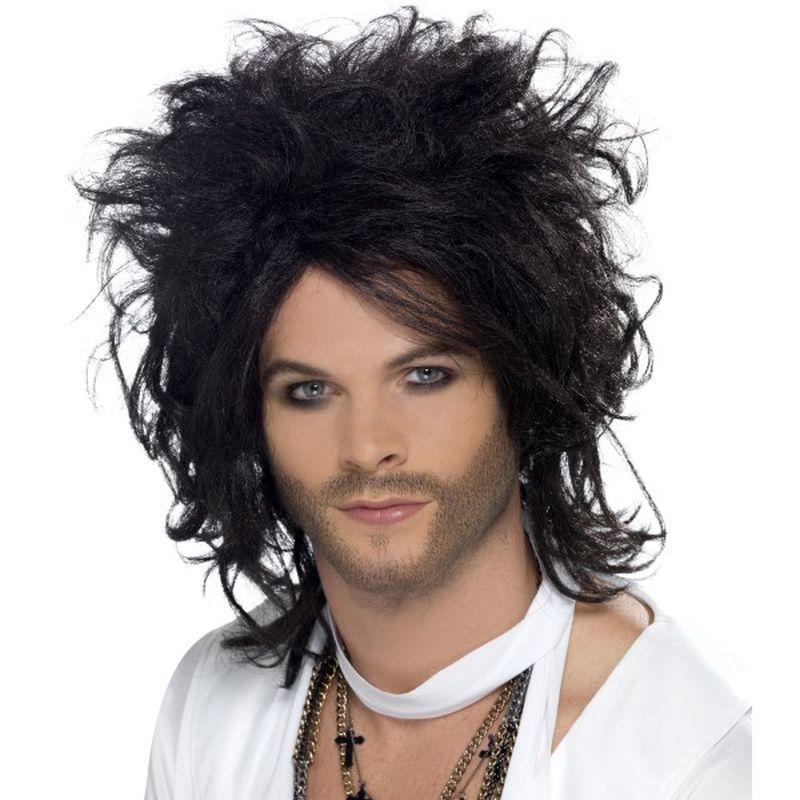 Sex God Wig Adult Black - Heroes & Role Model Mad Fancy Dress