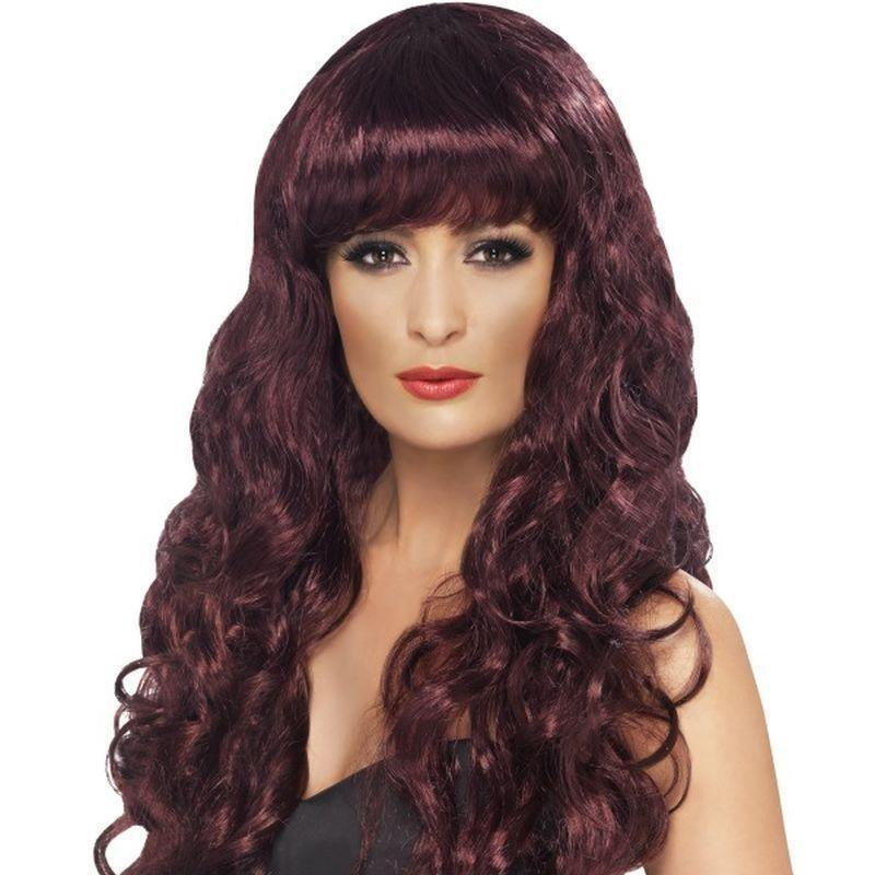 Siren Wig Adult Purple - Ladies Wigs Mad Fancy Dress