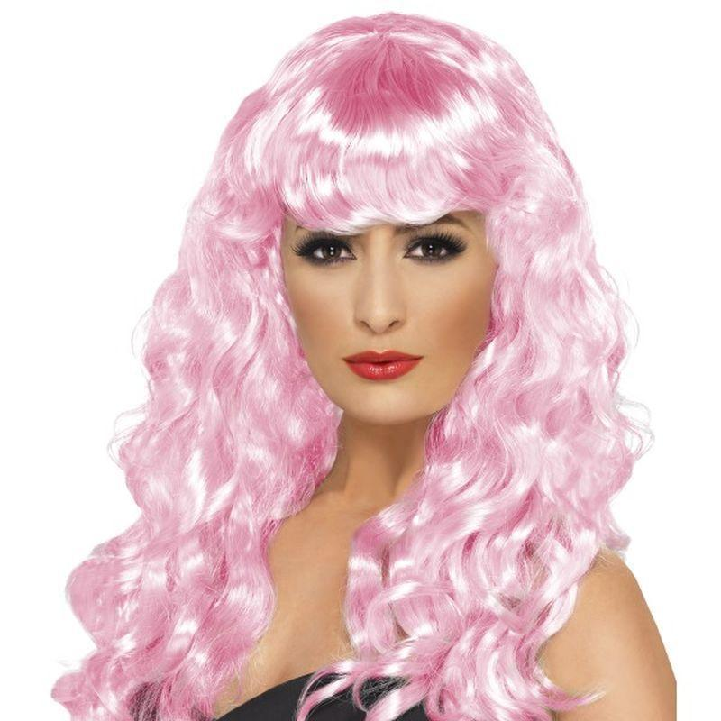 Siren Wig Adult Pink - Ladies Wigs Mad Fancy Dress