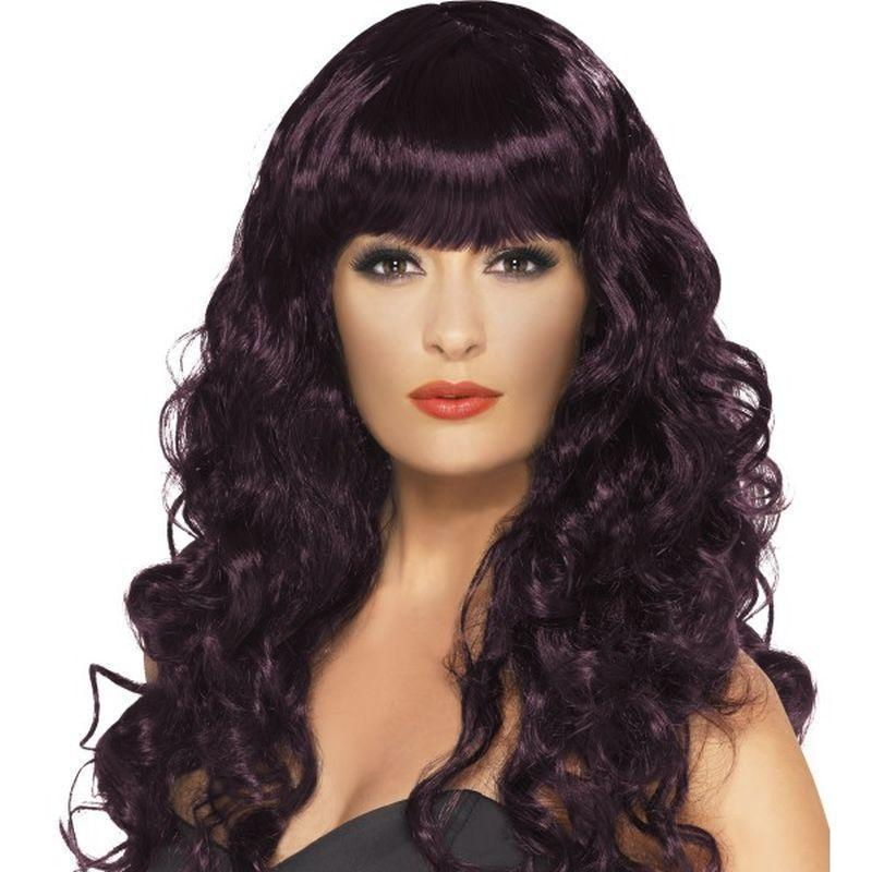 Siren Wig Adult Black - Ladies Wigs Mad Fancy Dress