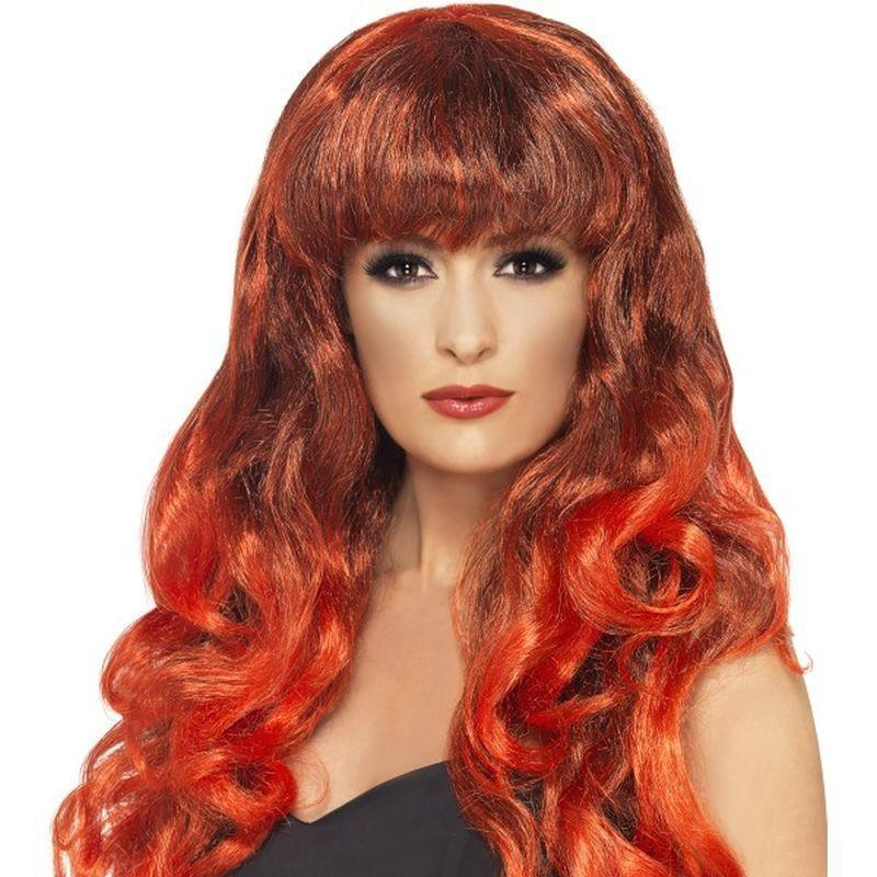 Siren Wig Adult Red - Ladies Wigs Mad Fancy Dress