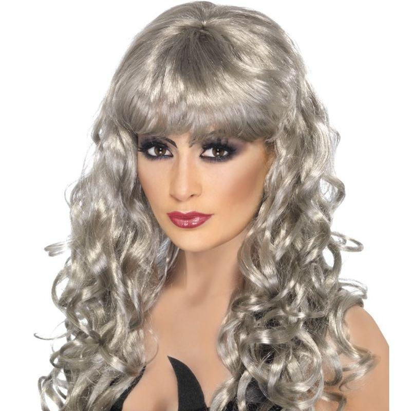 Siren Wig Adult Silver - Ladies Wigs Mad Fancy Dress