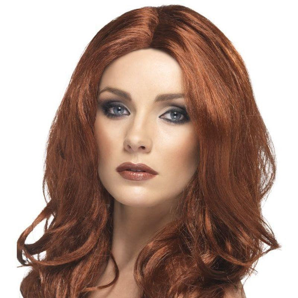 Superstar Wig Adult Auburn - Ladies Wigs Mad Fancy Dress