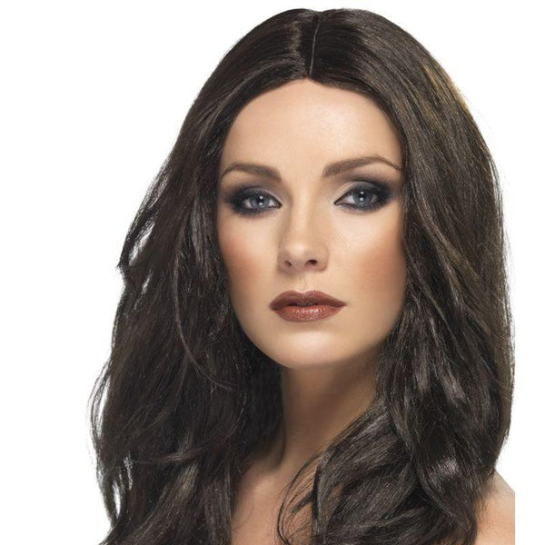 Superstar Wig Adult Brown - Ladies Wigs Mad Fancy Dress