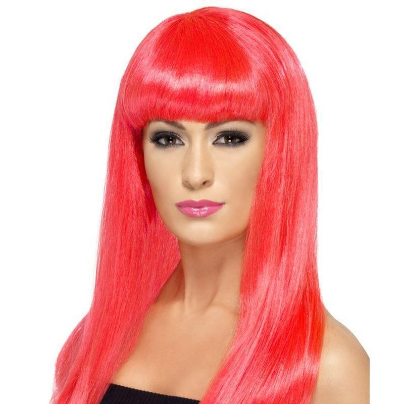 Babelicious Wig Adult Pink - Ladies Wigs Mad Fancy Dress