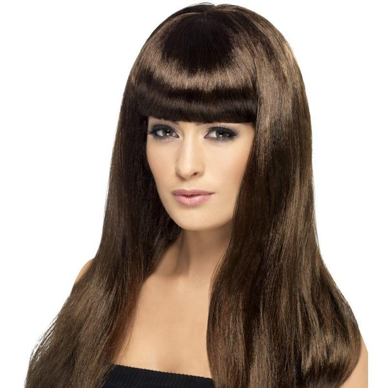 Babelicious Wig Adult Brown - Ladies Wigs Mad Fancy Dress