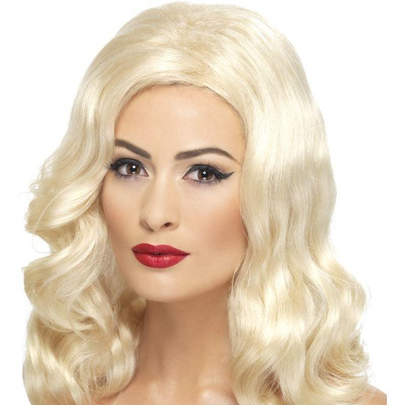 20S Luscious Long Wig Adult Blonde - 20S Razzle Mad Fancy Dress