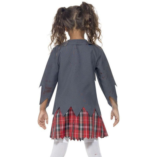 Zombie School Girl Costume Kids Grey