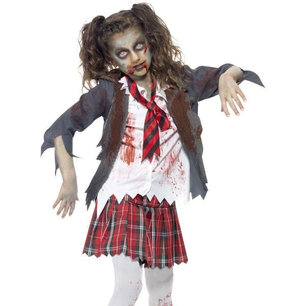 Zombie School Girl Costume - Teen 13+ Girls Grey