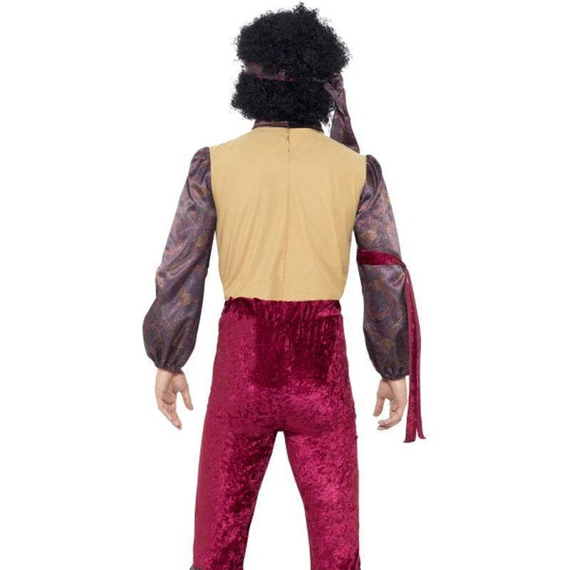 70S Psychedelic Rocker Costume Adult Purple - 70S Disco Mad Fancy Dress