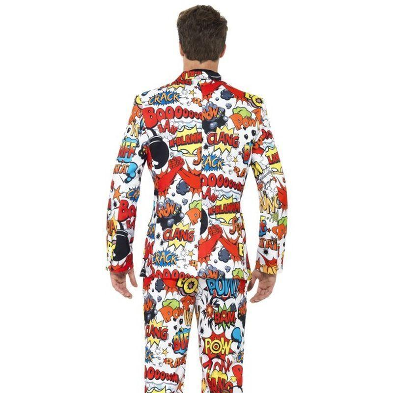 Comic Strip Suit Adult Black - Stands Out Suits Mad Fancy Dress
