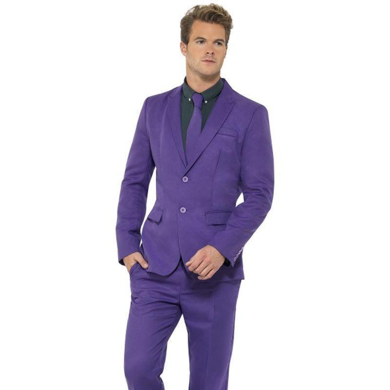 Purple Suit Adult Purple - Stands Out Suits Mad Fancy Dress
