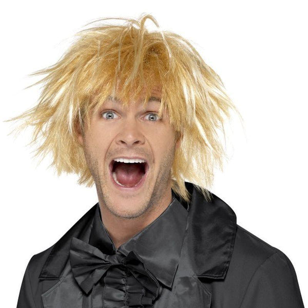 90S Messy Surfer Guy Wig Adult Blonde - 1990S Theme Fancy Dress Mad Fancy Dress