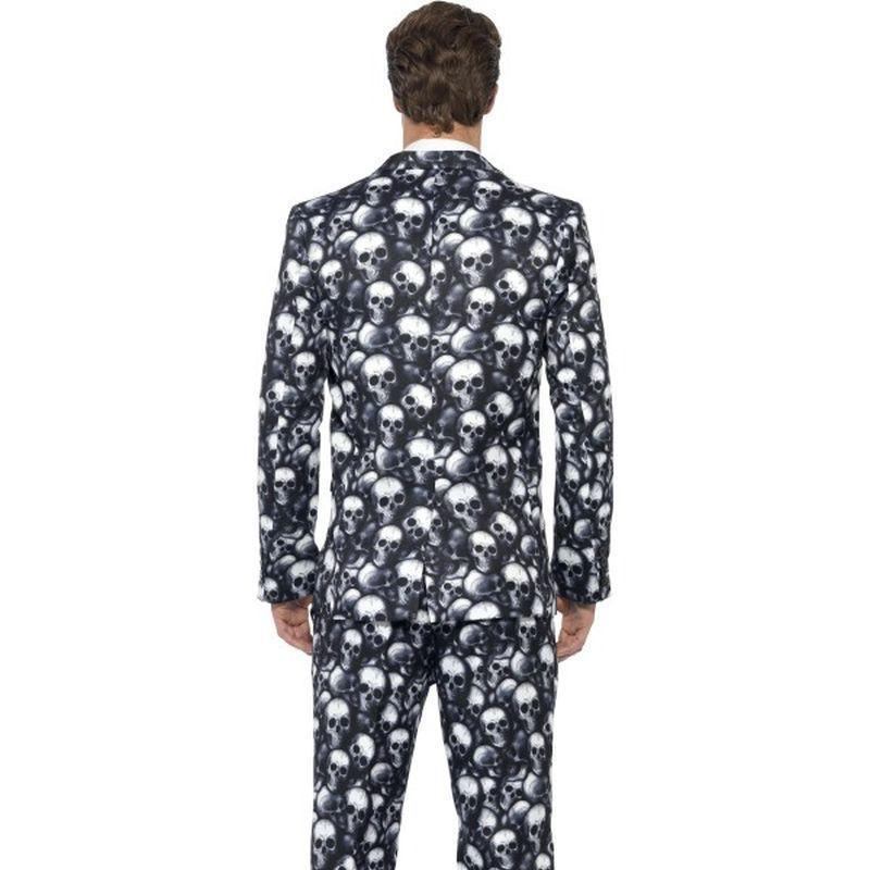 Skeleton Suit Adult Black/white - Stands Out Suits Mad Fancy Dress