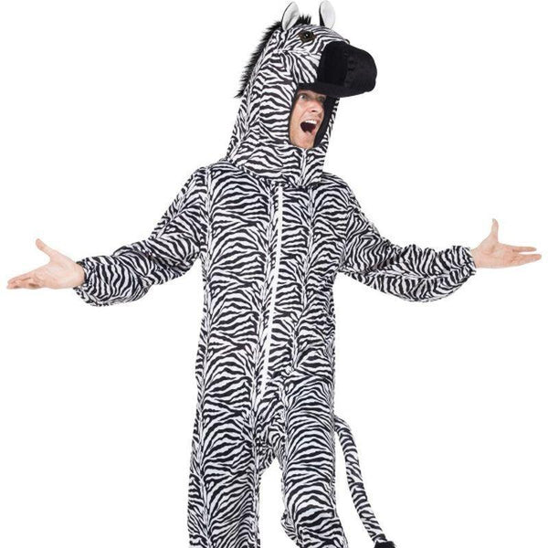 Zebra Costume - One Size Mens Black/Whte