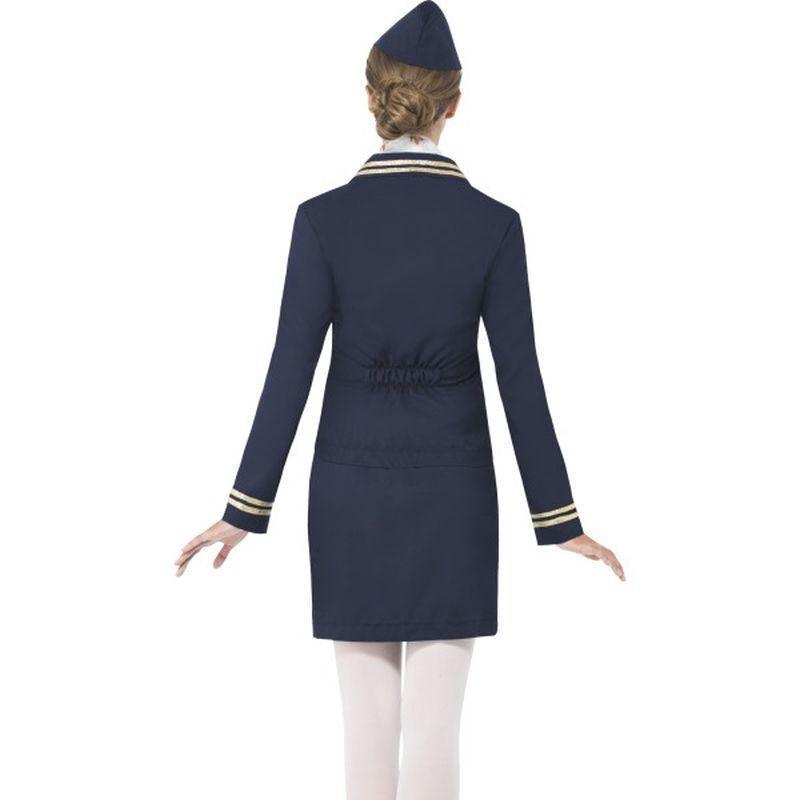 Airways Attendant Costume Adult Blue - Heroes & Role Model Mad Fancy Dress