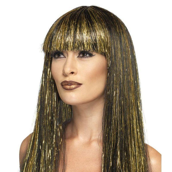 Egyptian Goddess Wig Adult Gold - Halloween Costumes & Accessories Mad Fancy Dress