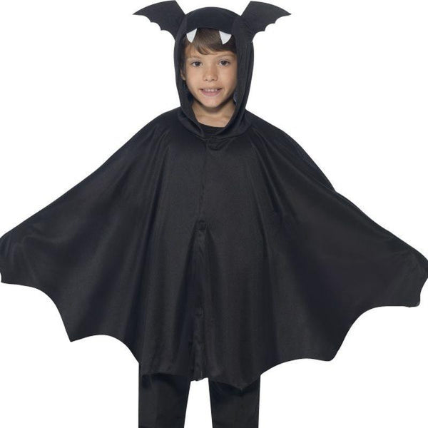 Bat Cape Kids Black - Halloween Costumes & Accessories Mad Fancy Dress