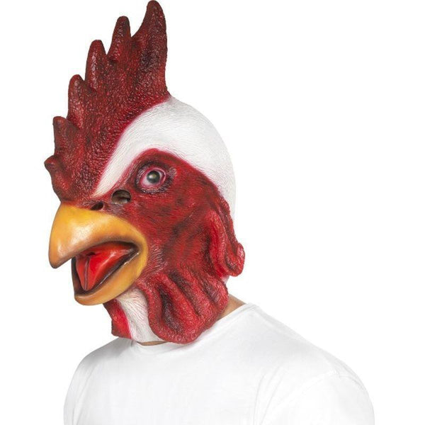 Chicken Mask Adult White - Adult Animal Mad Fancy Dress