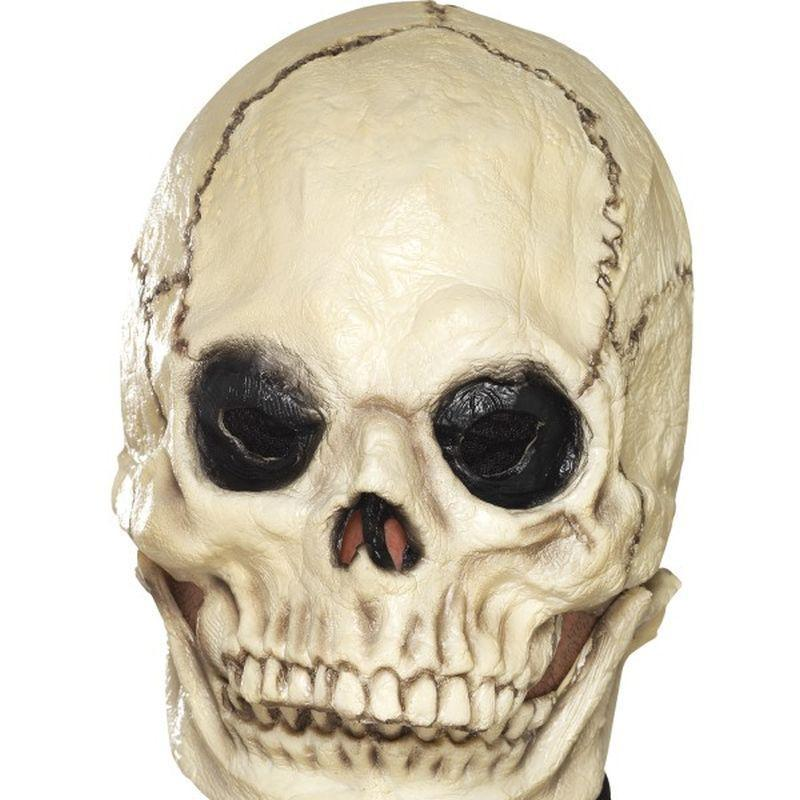 Skull Mask Foam Latex Adult White - Around The World Mad Fancy Dress