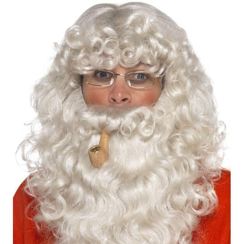 Santa Dress Up Kit Adult Grey - Christmas Costumes For Men Mad Fancy Dress