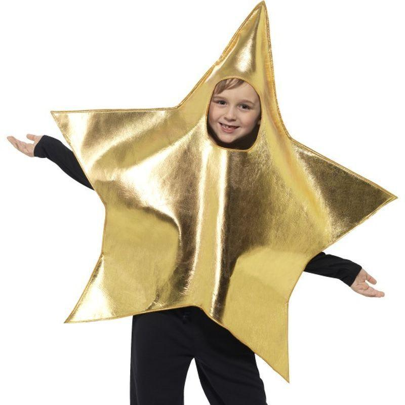 Shining Star Costume Kids Gold - Childrens Christmas Costumes Mad Fancy Dress