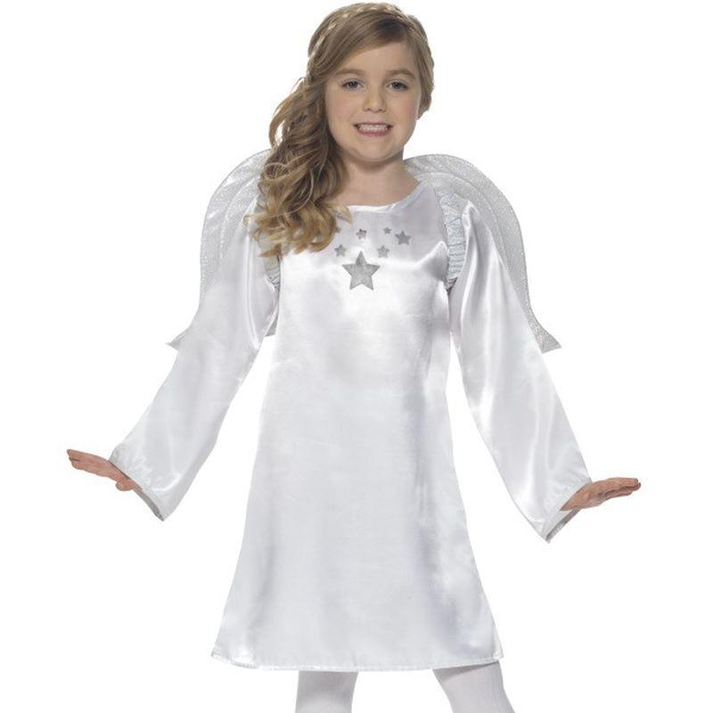 Angel Costume Kids White - Childrens Christmas Costumes Mad Fancy Dress